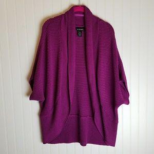 Lane Bryant Purple Dolman Sleeve Sweater Shrug